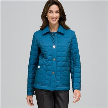 Quilted Jacket, royal, large