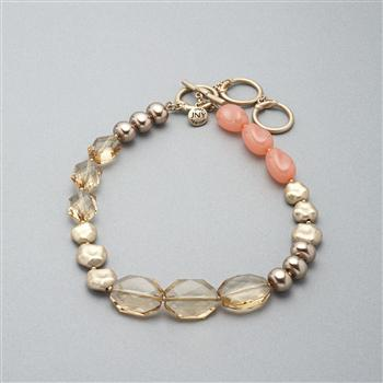 Pink and Gold Necklace, Pink, large