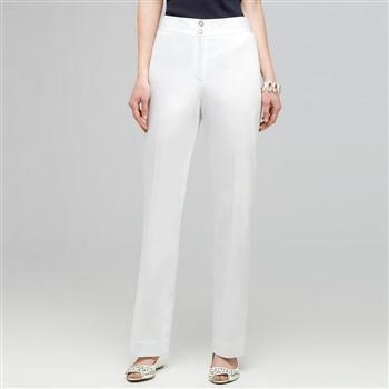 Straight Leg Pant., White, large